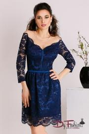 rochii de seara albastre din dantela
