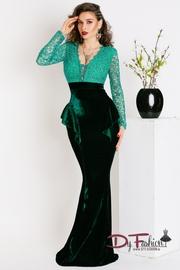 rochii de seara dantela verde