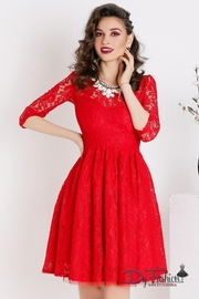 rochii de seara din dantela rosie