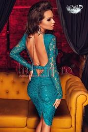 rochii de seara din dantela turcoaz