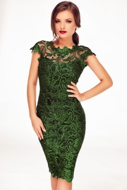 rochii de seara din dantela verde