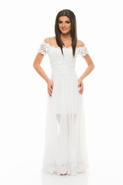 rochii de seara lungi albe