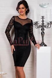 rochii de seara negre cu dantela