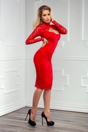 rochii de seara rosii din dantela