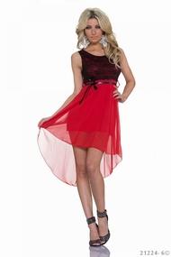 rochie asimetrica cu volane