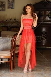 rochii rosii asimetrice